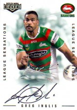 2013 NRL Elite League Sensations Signature LS12 Greg Inglis Rabbitohs #53/130