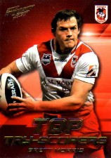 2012 NRL Dynasty Top Try Scorer #TT12 Brett Morris Dragons with Redeemed Predictor