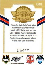 2012 NRL Dynasty Gold League Leader LLG13 Braith Anasta Roosters #54/150