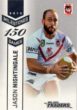 2014 NRL Traders Milestones #M13 Jason Nightingale Dragons