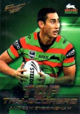 2012 NRL Dynasty Top Try Scorer #TT13 Andrew Everingham Rabbitohs with Redeemed Predictor