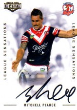 2013 NRL Elite League Sensations Signature LS14 Mitchell Pearce Roosters #104/130
