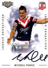2013 NRL Elite League Sensations Signature LS14 Mitchell Pearce Roosters #108/130