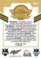 2012 NRL Dynasty Gold League Leader LLG14 Asotasi / Burgess / Croker / King / Sutton Rabbitohs #68/150
