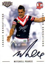 2013 NRL Elite League Sensations Signature LS14 Mitchell Pearce Roosters #76/130