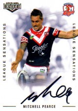 2013 NRL Elite League Sensations Signature LS14 Mitchell Pearce Roosters #77/130