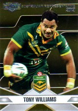 2013 NRL Elite Australian Representative AR18 Tony Williams Bulldogs Australia