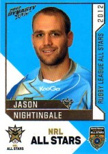 2012 NRL Dynasty All Stars #AS22 Jason Nightingale Dragons