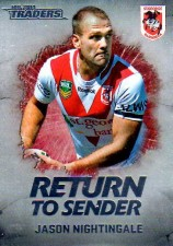 2014 NRL Traders Return to Sender #RTS26 Jason Nightingale Dragons