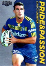 2014 NRL Elite Pride & Passion #PP26 Darcy Lussick Eels