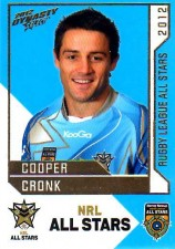 2012 NRL Dynasty All Stars #AS27 Cooper Cronk Storm