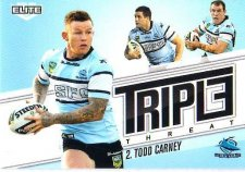 2013 NRL Elite Triple Threats TT32 Todd Carney Sharks