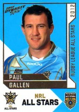 2012 NRL Dynasty All Stars #AS33 Paul Gallen Sharks