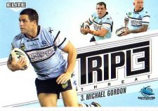 2013 NRL Elite Triple Threats TT33 Michael Gordon Sharks