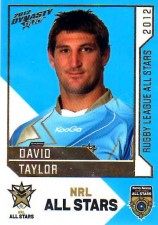 2012 NRL Dynasty All Stars #AS34 David Taylor Rabbitohs