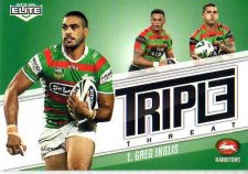 2013 NRL Elite Triple Threats TT34 Greg Inglis Rabbitohs