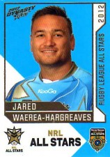 2012 NRL Dynasty All Stars #AS36 Jared Waerea-Hargreaves Roosters