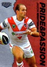 2014 NRL Elite Pride & Passion #PP39 Jason Nightingale Dragons