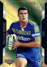 2014 NRL Elite Gold Parallel #SP76 Darcy Lussick Eels