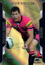 2014 NRL Elite Gold Parallel #SP82 Kevin Kingston Panthers