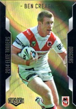2014 NRL Elite Gold Parallel #SP109 Ben Creagh Dragons