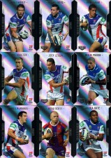 2014 NRL Elite 9-Card Silver Parallel Team Set Newcastle Knights