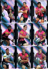 2014 NRL Elite 9-Card Silver Parallel Team Set Penrith Panthers
