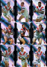 2014 NRL Elite 9-Card Silver Parallel Team Set St.George Illawarra Dragons
