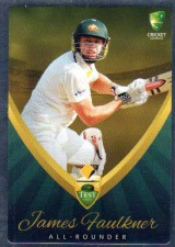 2015/16 CA & BBL Cricket Silver Parallel #P3 James Faulkner Australian Test