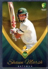 2015/16 CA & BBL Cricket Silver Parallel #P9 Shaun Marsh Australian Test