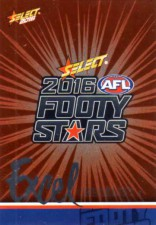 2016 AFL Footy Stars Excel Parallel #EP1 Checklist 1