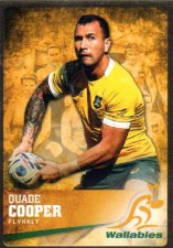 2016 Rugby Gold Parallel #5 Quade Cooper Wallabies