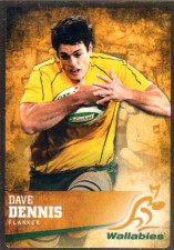 2016 Rugby Gold Parallel #7 Dave Dennis Wallabies