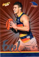 2016 AFL Footy Stars Excel Parallel #EP8 Josh Jenkins Crows