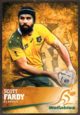 2016 Rugby Gold Parallel #8 Scott Fardy Wallabies