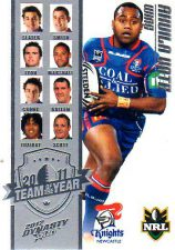 2012 NRL Dynasty TOTY #TY2 Akuila Uate Knights
