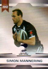 2012 NRL Limited Edition Parallel P20 Simon Mannering Warriors New Zealand