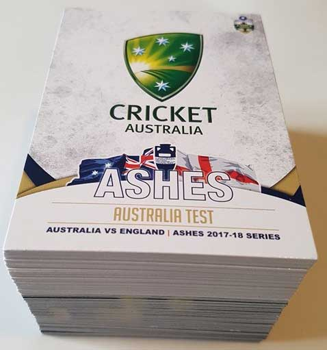 2017/18 The Ashes Cricket Complete 100-Card Base Common Set