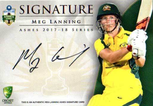 2017/18 Tap n Play Cricket The Ashes Signature Card AS6 Meg Lanning #12/200