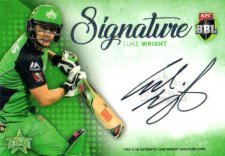 2017/18 BBL Big Bash Cricket Signature Card SS5 Luke Wright Stars #11/200