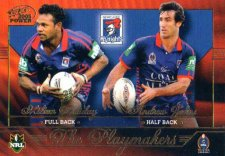 2005 NRL Power Playmakers PM7 Milton Thaiday / Andrew Johns Knights