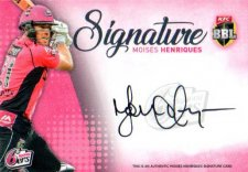 2017/18 BBL Big Bash Cricket Signature Card SS7 Moises Henriques Sixers #/200