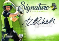 2017/18 BBL Big Bash Cricket Signature Card SS8 Alex Blackwell Thunder #9/200