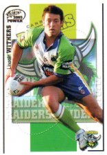 2005 NRL Power Base Card 38 Lincoln Withers Raiders