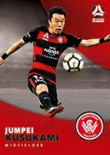 2017/18 Tap N Play FFA Football A-League Soccer Parallel Card 194 Jumpei Kusukami Wanderers