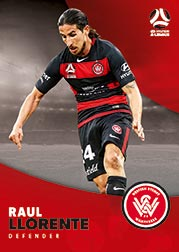 2017/18 Tap N Play FFA Football A-League Soccer Parallel Card 195 Raul Llorente Wanderers