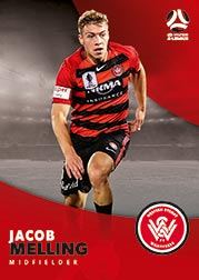 2017/18 Tap N Play FFA Football A-League Soccer Parallel Card 196 Jacob Melling Wanderers