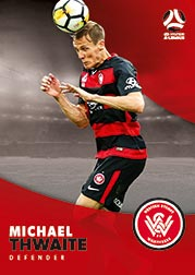 2017/18 Tap N Play FFA Football A-League Soccer Parallel Card 200 Michael Thwaite Wanderers