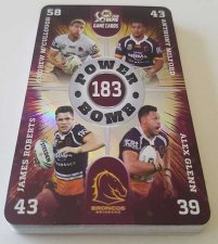 2018 NRL Xtreme Complete 16-Card Power Bomb Insert Set