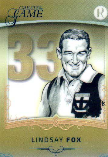 2017 Regal Greats of the Game Golden Numbers GN-LF Lindsay Fox #33/33